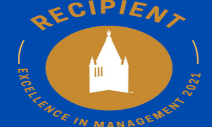 Excellence in Management Logo with campanile image